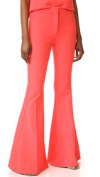 Victoria Beckham Flare Pants Hot Coral