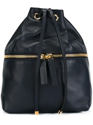 Marni Drawstring Backpack Blue