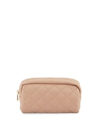 Neiman Marcus Charlie Quilted Cosmetic Pouch Blush