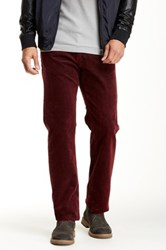 Agave Gringo Corduroy Classic Cut Straight Leg Pant Red