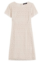 Steffen Schraut Cotton Blend Lace Dress Beige