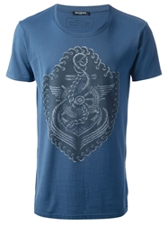 Balmain Nautical Print T Shirt Blue