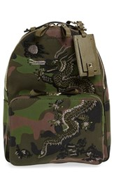 Valentino 'Medium Camo Dragon' Canvas Backpack