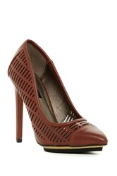 Michael Antonio Les Perforated Platform Pump Brown