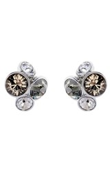 Women's Ted Baker London 'Lynda' Jewel Cluster Stud Earrings Grey Multi Silver