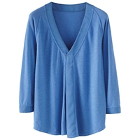 Poetry Woven Jersey Top Bluebell