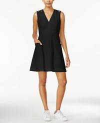 Rachel Rachel Roy Grommet Detail A Line Dress Black
