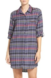 Dkny Women's 'Boyfriend' Print Sleep Shirt Anchor Plaid