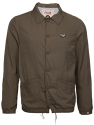 Fly 53 Acid Drop Button Bomber Jacket Khaki
