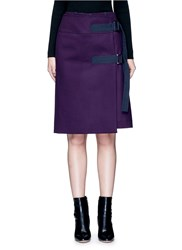 Sacai Wool Melton Wrap Shorts Purple