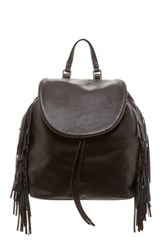 Sam Edelman Fifi Leather Fringe Backpack Black