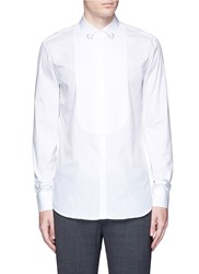 Neil Barrett Ring Collar Bib Front Tuxedo Shirt White