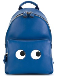 Anya Hindmarch 'Eyes' Backpack Blue