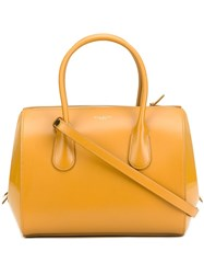 Nina Ricci Zipped Tote Yellow Orange