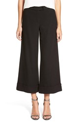 Plenty By Tracy Reese Crop Flare Trousers Black