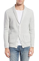 Men's Original Paperbacks 'New Yorker' Rib Shawl Collar Cardigan Light Grey