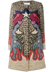Mary Katrantzou Leopard Western Print Coat Multicolour