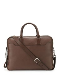 Tom Ford Double Zip Leather Laptop Briefcase Chocolate