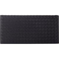 Bottega Veneta Men's Intrecciato Travel Wallet Black Blue Black Blue