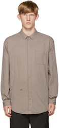 Robert Geller Grey Shadow Strip Shirt