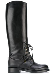 Alexander Mcqueen Lace Up Boots Black