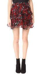Iro Dicie Skirt Black Red