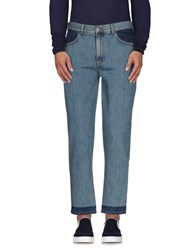 Au Jour Le Jour Denim Denim Trousers Men Blue