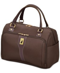 London Fog Knightsbridge 17 Cabin Tote Available In Brown And Grey Glen Plaid Macy's Exclusive Colors Chocolate