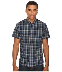 Quiksilver Everyday Check Short Sleeve Woven Black Men's Clothing