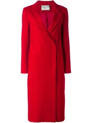 Lanvin Long Double Breasted Coat Red