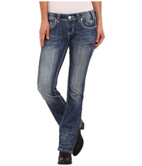 Rock And Roll Cowgirl Rival Low Rise In Light Vintage W6 4492 Light Vintage Women's Jeans Blue