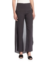 Brunello Cucinelli Tuxedo Night Silk Skirt Combo Pants Volcano