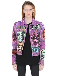 Patricia Field Art Fashion Tom Tom Dinosaur Rock Denim Jacket