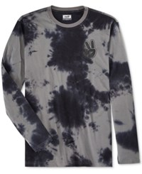 Neff Men's Long Sleeve Tie Dye T Shirt Black