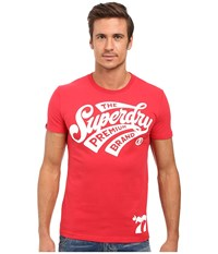 Superdry The Premium Brand Tee Indiana Red Men's T Shirt