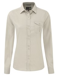Craghoppers Kiwi Long Sleeved Shirt Beige