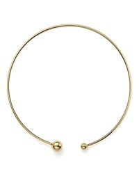 Bloomingdale's 14K Yellow Gold Removable Bead Collar Necklace 17