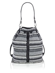 Elizabeth And James Cynnie Sling Woven Cotton Convertible Backpack Grey Multi