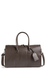 Topman Faux Leather Satchel Brown