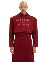Vetements Football Shouldered Cropped Hooded Sweater