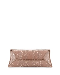 Vbh Ostrich Leg Lace Clutch Bag Rose