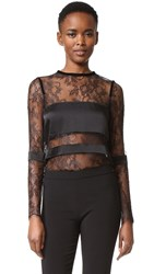 Ungaro Lace Top Black