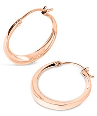 Dinny Hall Small Rose Gold Plated Signature Hoop Earrings