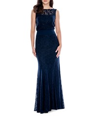 Decode 1.8 Sleeveless Lace Blouson Gown Navy