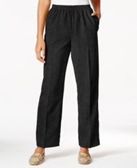 Alfred Dunner Pull On Solid Corduroy Pants Black