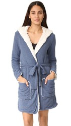 Splendid Cozy Hoody Robe Navy Heather