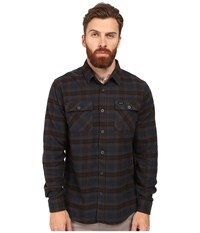 Rvca That'll Work Flannel Long Sleeve Carbon Men's Clothing Gray