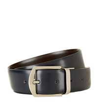 Canali Reversible Smooth Leather Belt Unisex Multi