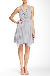 Ryu Illusion Neckline Dress Gray