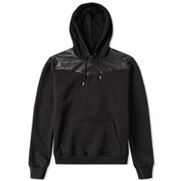 Saint Laurent Leather Panel Hooded Sweat